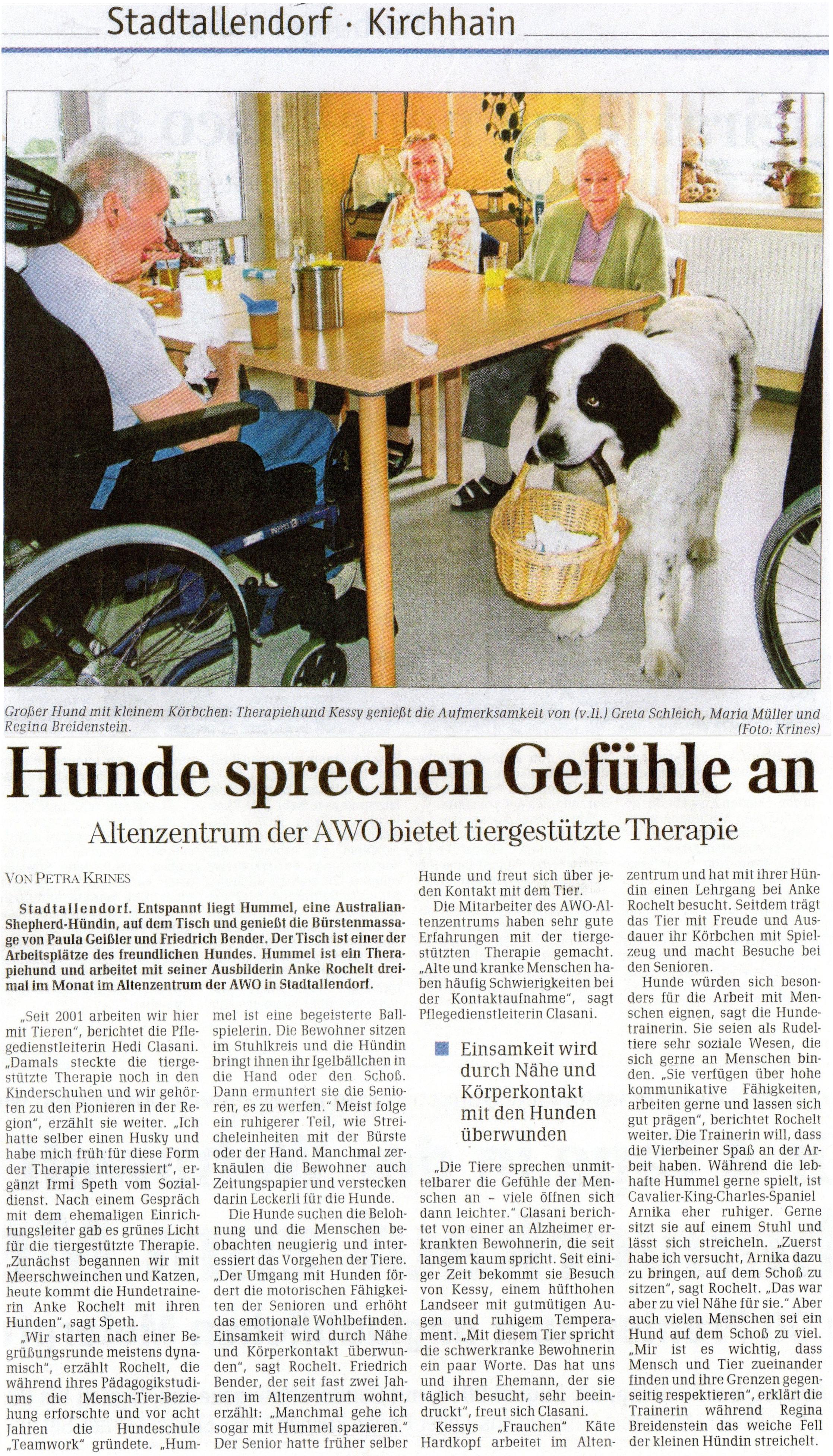 Marburger Neue Zeitung vom 24. August 2010