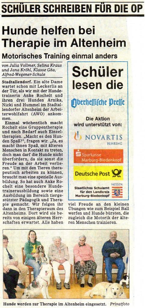 Oberhessische Presse vom 08.03.2008